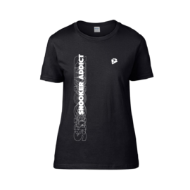 Női kereknyakú póló, fekete – SNOOKER ADDICT