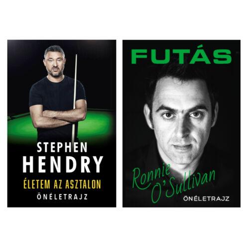 Ronnie O'Sullivan és Stephen Hendry önéletrajzi könyvek