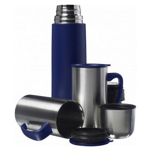 500 ml termosz+2db bögre, kék