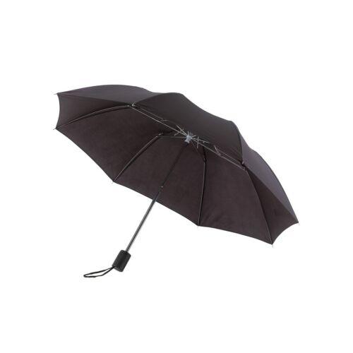 REGULAR összecsukható mechanikus esernyő, fekete