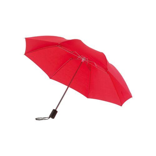 REGULAR összecsukható mechanikus esernyő, vörös