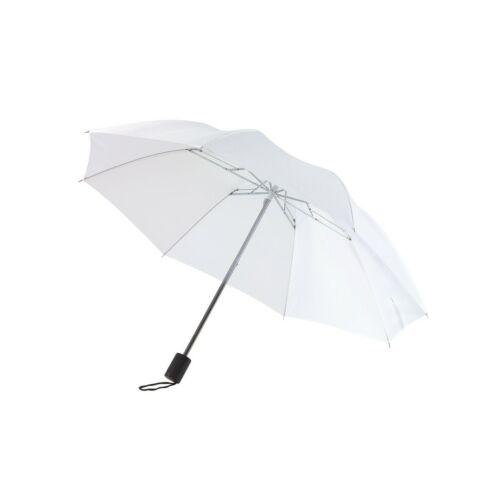 REGULAR összecsukható mechanikus esernyő, fehér