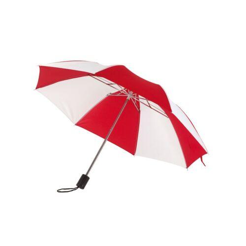 REGULAR összecsukható mechanikus esernyő, vörös, fehér