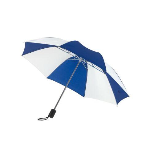 REGULAR összecsukható mechanikus esernyő, kék, fehér