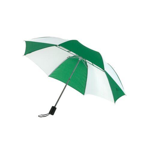 REGULAR összecsukható mechanikus esernyő, zöld, fehér