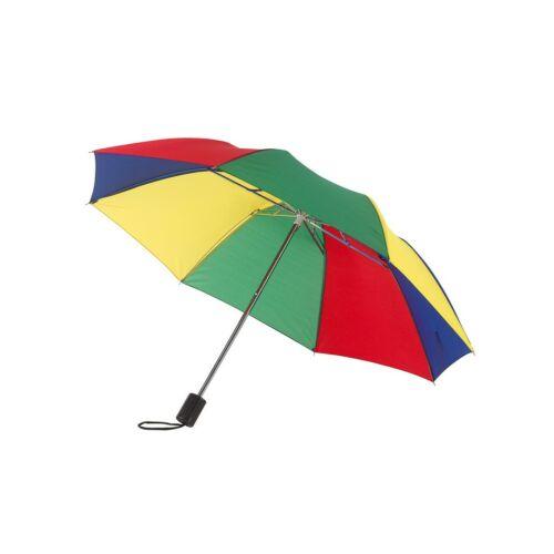 REGULAR összecsukható mechanikus esernyő, zöld, kék, vörös, sárga