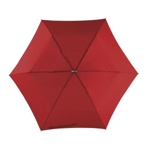 FLAT szuper mini alumínium összecsukható esernyő, sötétvörös