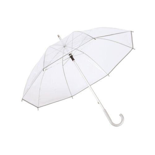 PANORAMIX átlátszó alumínium esernyő, átlátszó, ezüst