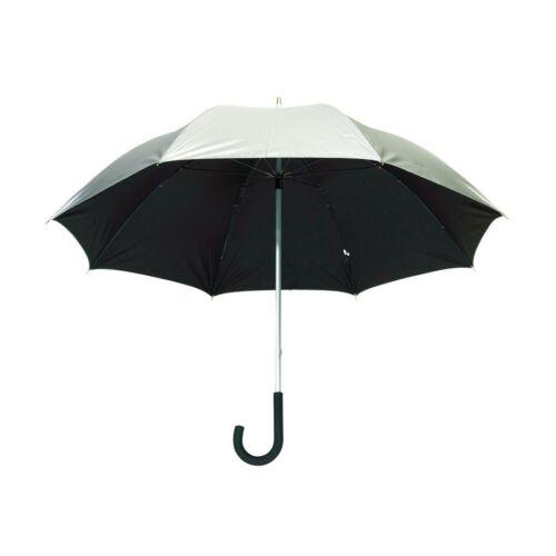 SOLARIS alumínium üveggyapot golf esernyő, ezüst, fekete