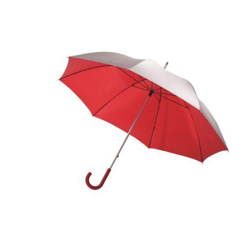 SOLARIS alumínium üveggyapot golf esernyő, ezüst, vörös