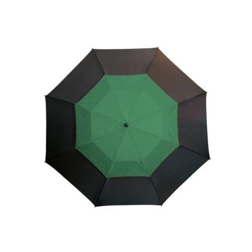 MONSUN üveggyapot golf esernyő, fekete, sötétzöld