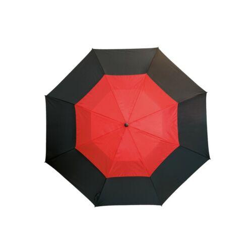 MONSUN üveggyapot golf esernyő, fekete, piros