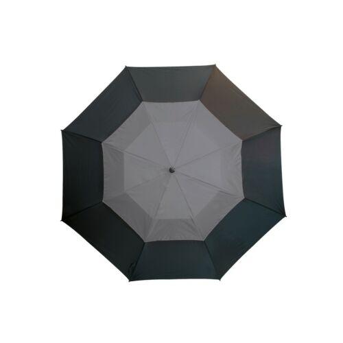 MONSUN üveggyapot golf esernyő, fekete, szürke