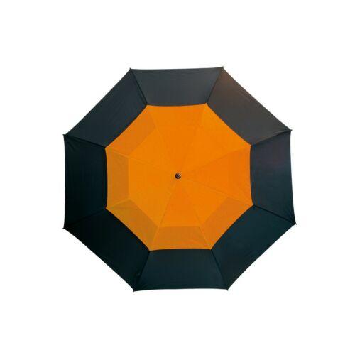 MONSUN üveggyapot golf esernyő, fekete, narancssárga