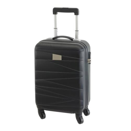 PADUA gurulós utazó bőrönd, fekete