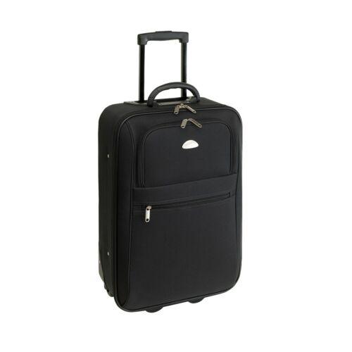 DUBLIN gurulós bőrönd, fekete