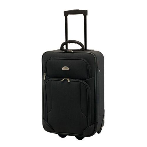 GALWAY gurulós bőrönd, fekete