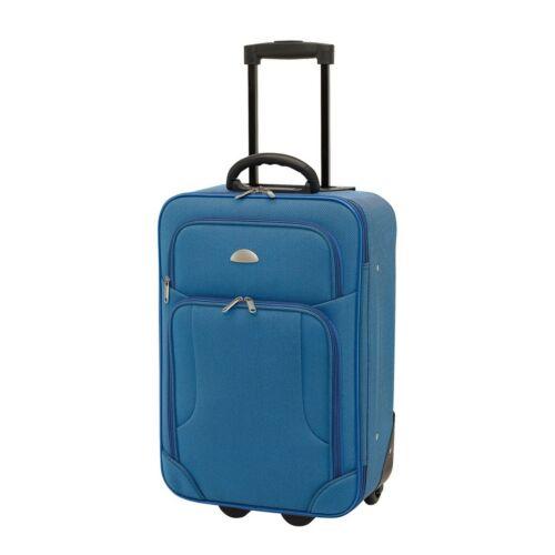 GALWAY gurulós bőrönd, kék