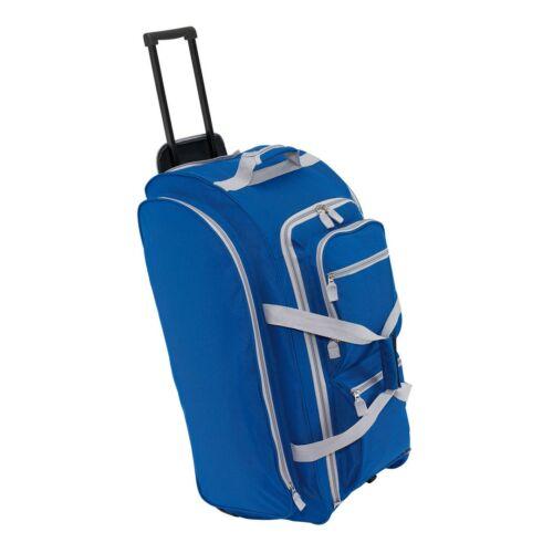 9P gurulós utazó táska, kék, szürke