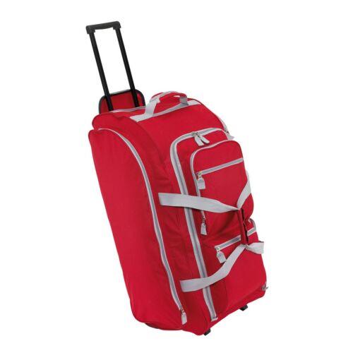 9P gurulós utazó táska, vörös, szürke