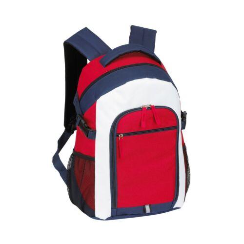 MARINA hátizsák, kék, vörös, fehér