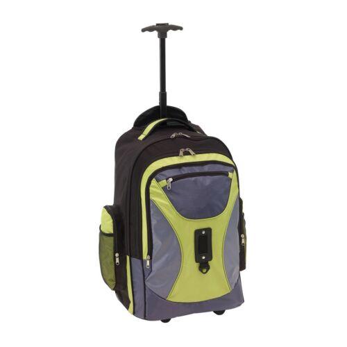 COMFORTY gurulós hátizsák, szürke, zöld