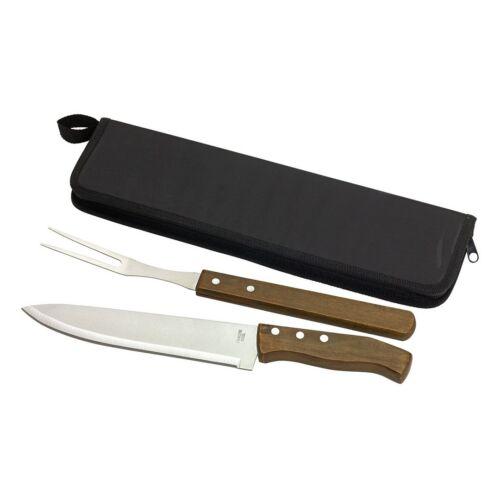 BUTCHER hússzeletelő szett, kés szett, barna, fekete