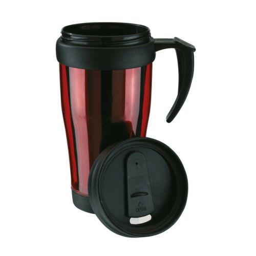 WARM-UP duplafalú műanyag pohár, vörös