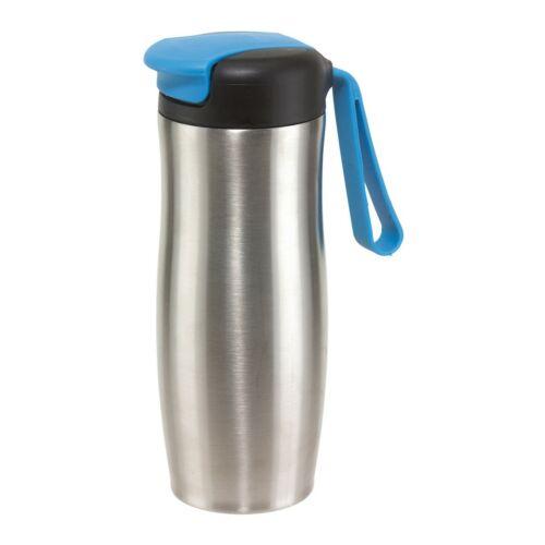 TAKE IT duplafalú termosz bögre, ezüst, kék