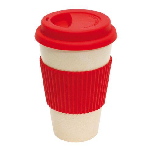 GEO CUP kávés bögre, piros