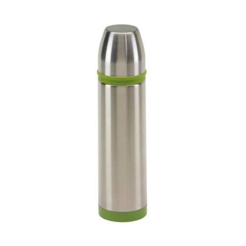 KEEP WARM Rozsdamentes duplafalú termosz, ezüst, zöld