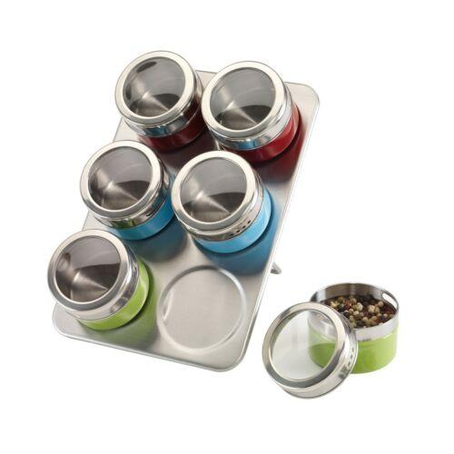 FANTASTIC rozsdamentes acél fűszertartó tálca, ezüst, vörös, kék, zöld