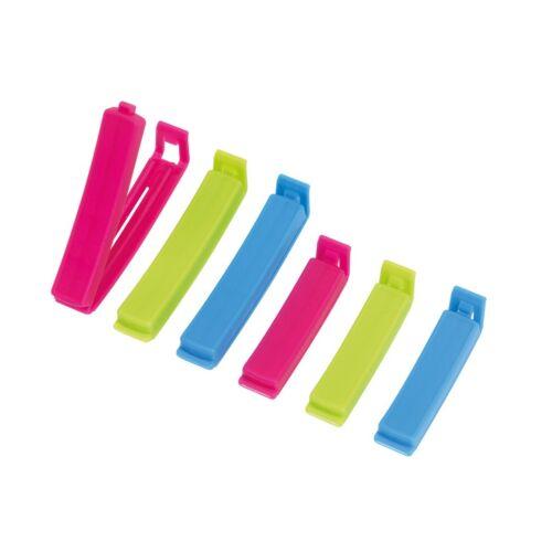KEEP FRESH frissen tartó háztartási csipesz szett, kék, rózsaszín, zöld