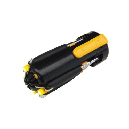 6IN1 csavarhúzó szett, fekete, sárga