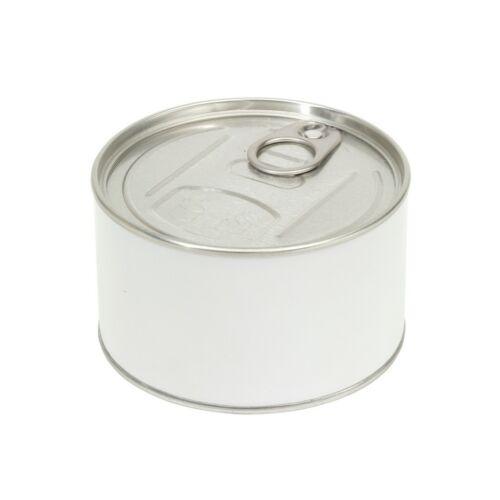 TEAR OPEN óra konzervdobozban, fehér, ezüst