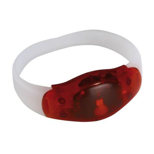 FESTIVAL világító csuklópánt, vörös, átlátszó