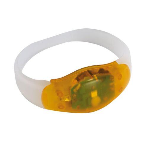 FESTIVAL világító csuklópánt, narancssárga, átlátszó