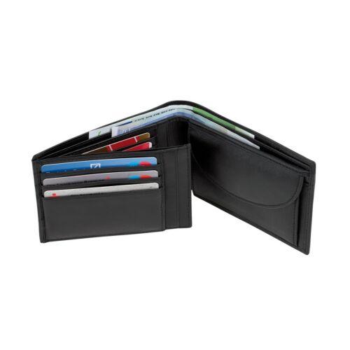 DAX bőr pénztárca, fekete