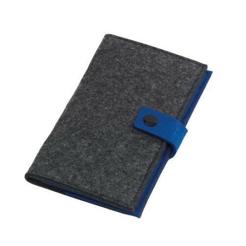 EDITION filc névjegykártya tartó, szürke, kék