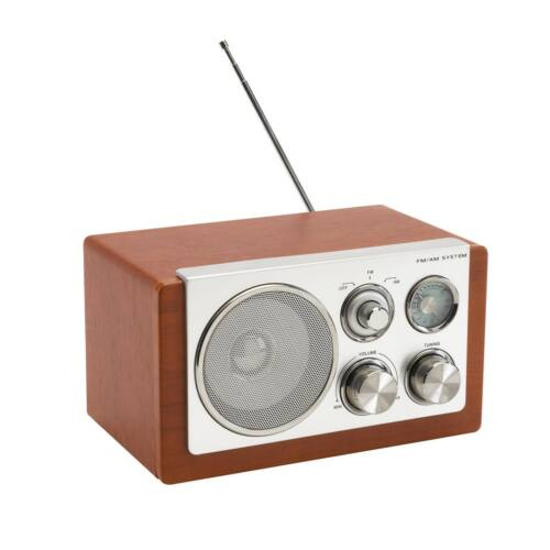 CLASSIC AM/FM rádió, ezüst, barna