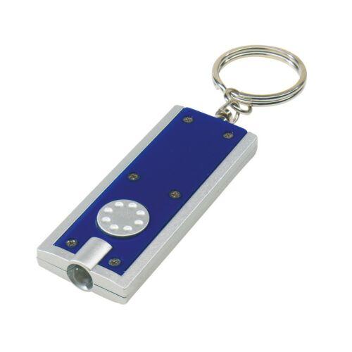 LOOK Téglalap alakú lapos kulcstartó, kék, ezüst