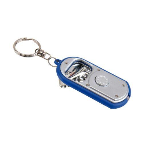 OPEN LIGHT kulcstartó, ezüst, kék