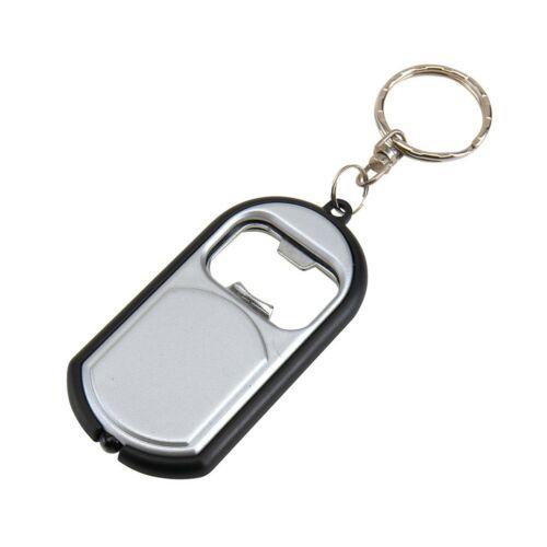OPEN LIGHT kulcstartó, ezüst, fekete