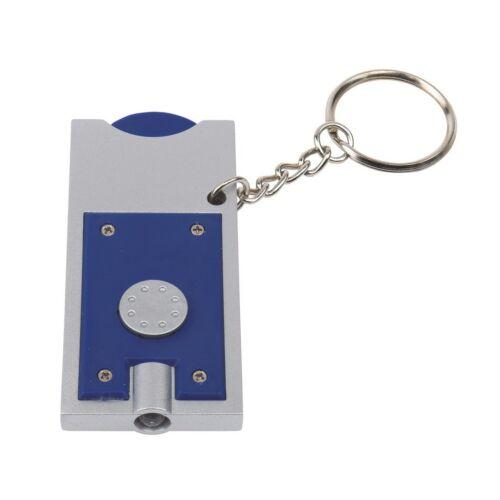 SHOPPING LED-es kulcstartó, ezüst, kék