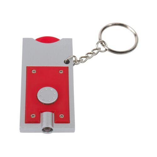 SHOPPING LED-es kulcstartó, ezüst, vörös