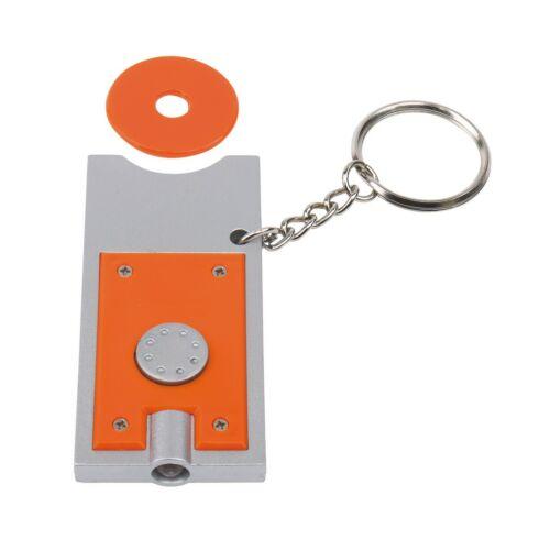 SHOPPING LED-es kulcstartó, ezüst, narancssárga