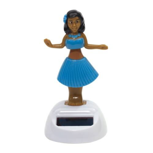 HULA napelemes táncoló figura, kék