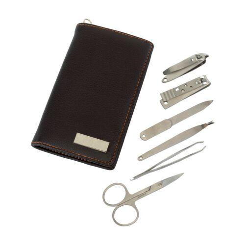 PERFECT 6 db-os manikűrkészlet, fekete, ezüst