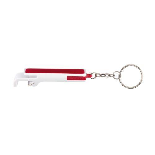 DOUBLE OPEN kulcstartó, fehér, vörös