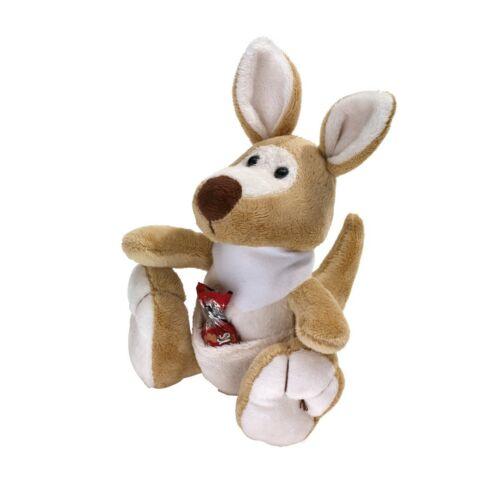 JUMPER plüss kenguru, barna, fehér